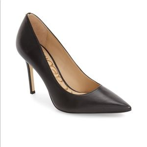 Sam Edelman Hazel Black Leather Heels